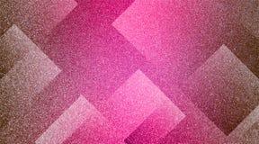 Marrone astratto al modello a strisce protetto fondo rosa e blocchi in linee diagonali con struttura marrone d'annata fotografie stock libere da diritti
