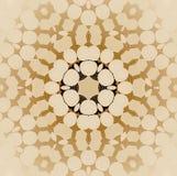 Marrone beige dell'ornamento senza cuciture del cerchio vago Immagini Stock