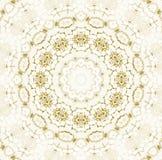 Marrone chiaro beige bianco dell'ornamento del cerchio Fotografie Stock