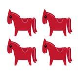 Marrone dei cavalli di Cutie su bianco illustrazione vettoriale