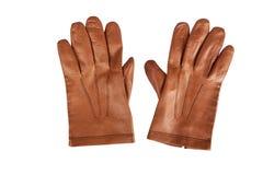 Marrone dei guanti degli uomini Fotografie Stock