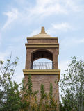Marrone del mattone dell'alta torre Fotografia Stock