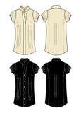 Marrone del vestito dalla ragazza dell'abito Fotografia Stock