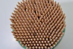 Marrone di legno di stuzzicadenti Immagine Stock Libera da Diritti