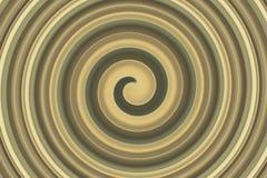 Marrone dorato a spirale astratto Fotografie Stock