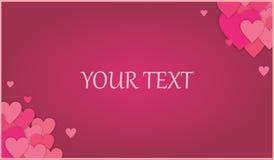 Marrone rossiccio - fondo rosa di amore dei cuori di schema con la funzione del testo Immagini Stock Libere da Diritti
