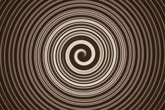 Marrone a spirale astratto Fotografie Stock