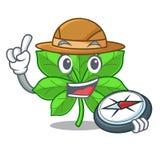 Marrons d'Inde d'explorateur dans la tige de mascotte illustration stock