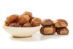 Marrons-glaces Stockfoto