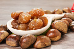 Marrons glaces Royalty Free Stock Photos