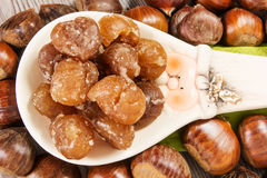 Marrons glaces Stock Images