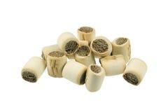 Marrow bone treats. Marrowbone treats for a dog - isolated on white Stock Image
