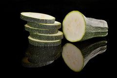 Marrow isolated on black. Royalty Free Stock Photography