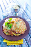 Marrow pancakes Royalty Free Stock Photo