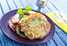 Marrow pancakes Royalty Free Stock Photos