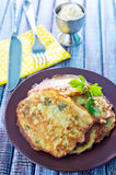 Marrow pancakes Stock Images
