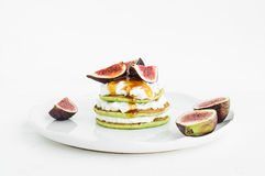 Marrow pancakes with soft goat cheese Stock Images