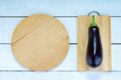 Marrow and wooden cutting boards Stock Image