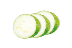 Marrow zucchini squas slices isolated with clipping path Royalty Free Stock Images