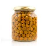 Marrowfat peas in glass Stock Photos