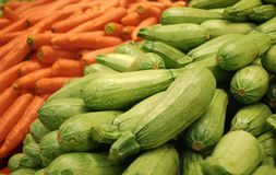 Marrows_and_carrots Royalty Free Stock Images