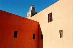 Marrrakech Mosque. The minaret of the central Marrakech mosque, Maroc, Africa Stock Photos
