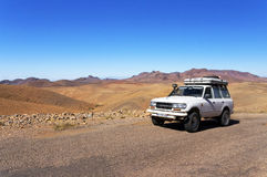 MARRUECOS - 27 DE OCTUBRE DE 2015: Safari en Sahara Desert, Marruecos, África imagenes de archivo