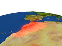 Marruecos en rojo de la órbita libre illustration