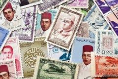 Marruecos en sellos Fotografía de archivo