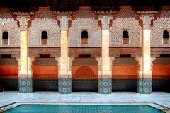 marruecos Marrakesh, Ali Ben Youssef Madrassa fotografía de archivo libre de regalías