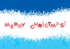 Marry christmas!. Vector Christmas  background with snowflakes and text Marry christmas Royalty Free Stock Image