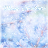 Marry Christmas blur greeting card Stock Photography