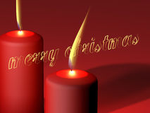 Marry Christmas - candles Royalty Free Stock Photo