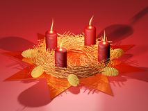 Marry Christmas - candles - star Royalty Free Stock Photos