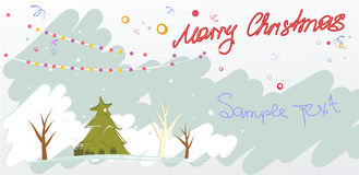 Marry christmas card Stock Images