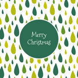 Marry Christmas card with green drops Stock Image