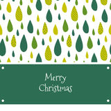 Marry Christmas card with green drops Royalty Free Stock Image