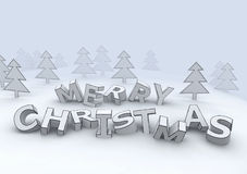Marry christmas design letters Stock Photo