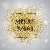 Marry christmas. Gold glitter. Gold background for flyer, poster, sign, banner, web, header. Abstract golden background for text, type, quote. Gold blur Royalty Free Stock Photography