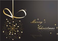 Marry Christmas. Christmas golden decoration Stock Photo