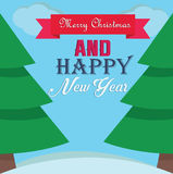 Marry Christmas and Happy new Year Royalty Free Stock Image
