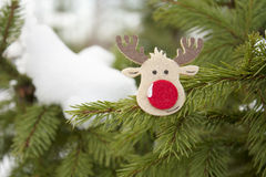 Marry Christmas & Happy New Year!. Merry Christmas & Happy New Year! Holiday Reindeer Stock Photo