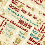 Marry Christmas and Happy New Year Pattern. Seamless text pattern Royalty Free Stock Photo