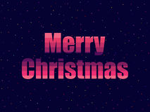 Marry Christmas in 80`s retro style. Text in the futuristic style, neon. Vector Royalty Free Stock Photos