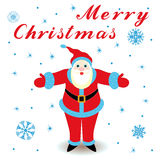 Marry Christmas with Santa Claus Royalty Free Stock Photo