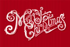 Marry Christmas vintage vector logo. Stock Image