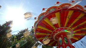 Marry go round. Flying over the trees with Merry-go-round