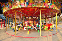 Marry go round in I-City theme park,Shah Alam Malaysia. Kuala Lumpur,Malaysia - February 6, 2014 :Marry go round in I-City theme park,Shah Alam Malaysia Royalty Free Stock Photo
