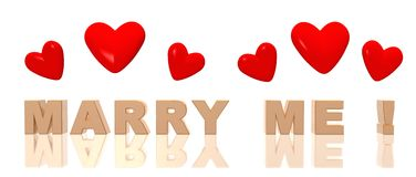Marry me Royalty Free Stock Image