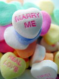 Marry Me. A Marry Me candy conversation heart stock photography